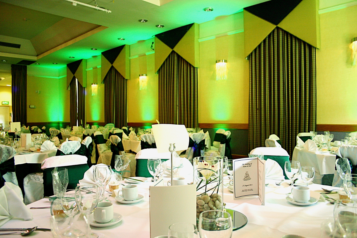 Green Mood Lighting In The Hertford Suite Of Watford Hilton