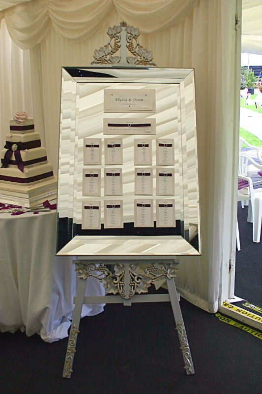Wedding easel for table planner menu wedding dj for For planner